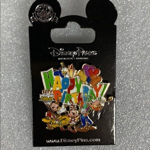Disney Parks Happy Birthday Pin New